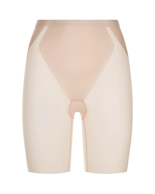 Spanx - Natural Haute Contour Mid-thigh Sculpting Shorts - Lyst