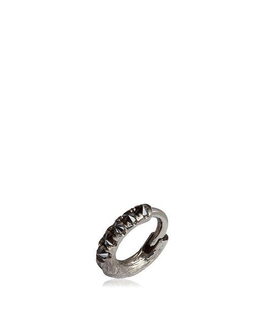 Annoushka - Metallic Dusty Diamonds Single White Gold Hoop Earring - Lyst