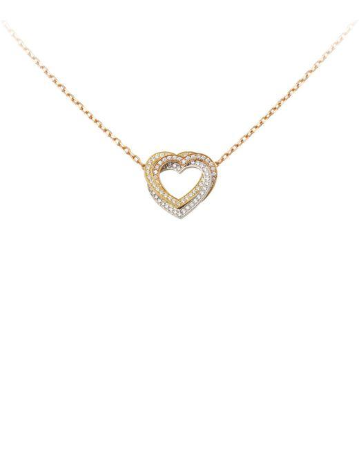 Cartier | Metallic Trinity De Diamond Heart Necklace | Lyst