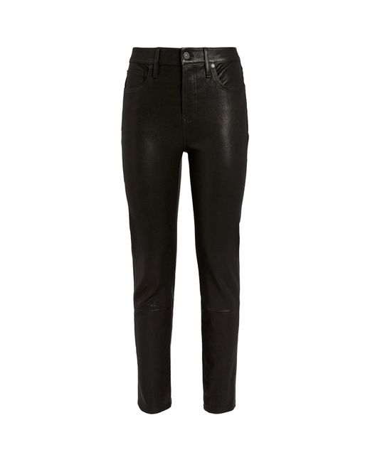 Citizens of Humanity Black Leather Harlow Mid-rise Skinny Jeans