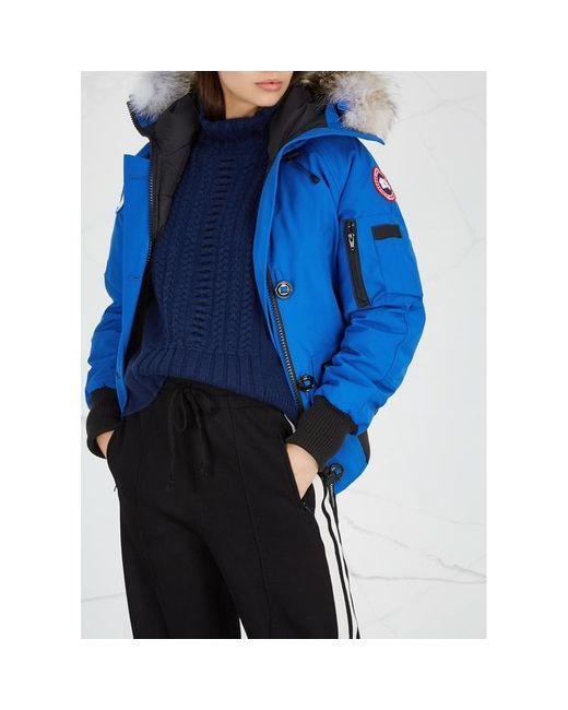 Women's Pbi Chilliwack Blue Fur trimmed Jacket