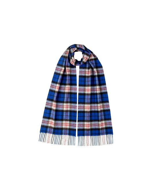 Johnstons Blue Macfadyen Tartan Classic Cashmere Scarf for men
