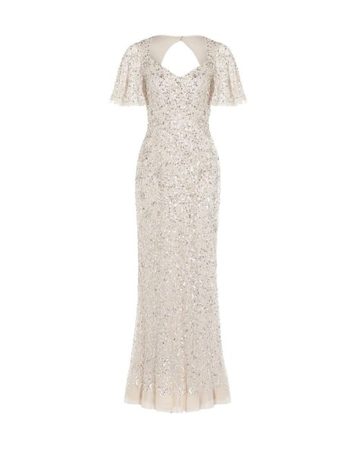 Adrianna Papell Multicolor Beaded Mermaid Gown