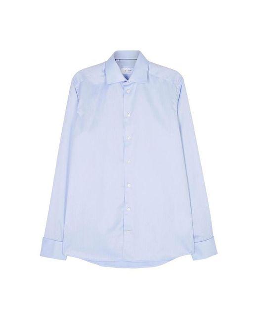 Eton of Sweden - Light Blue Contemporary Cotton Twill Shirt - Lyst