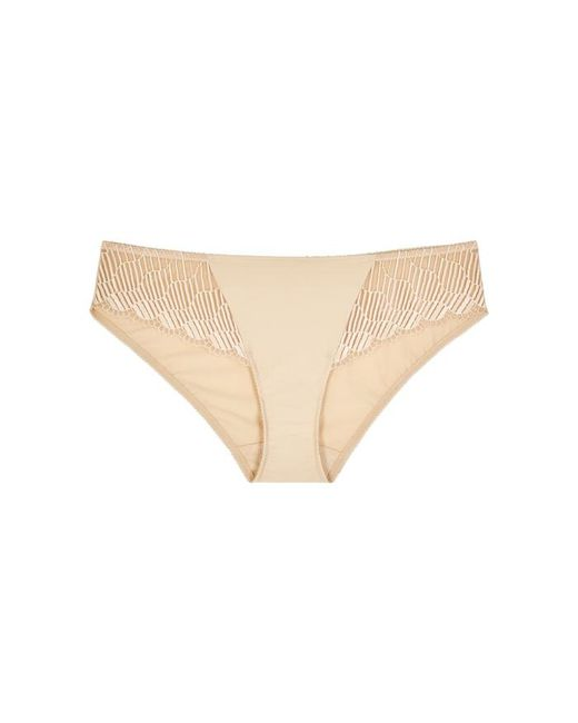 Wacoal - Natural La Femme Lace And Stretch Nylon Briefs - Lyst
