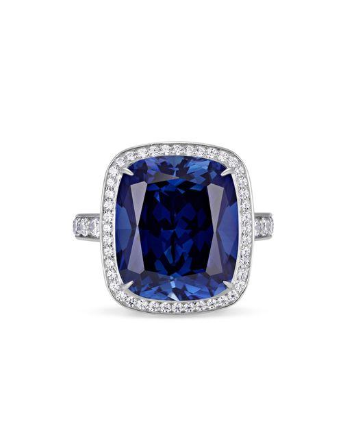 Atelier Swarovski Blue Ángel Halo Ring Swarovski Created Sapphire