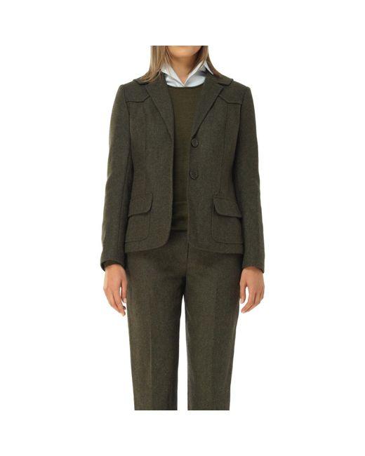 Max Studio - Green Heather Shetland Wool Fitted Blazer - Lyst