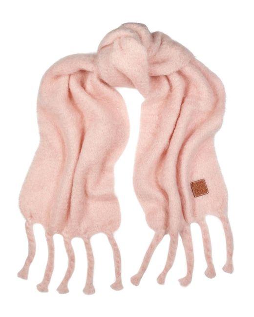 Loewe Light Pink Mohair-blend Scarf