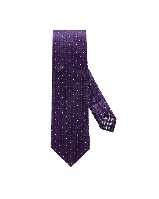 Eton of Sweden Purple Polka Dot Silk Tie for men