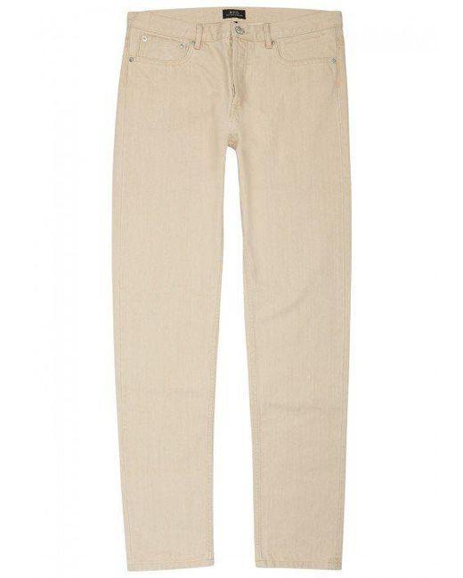 A.P.C. | Natural Petit Standard Straight-leg Jeans | Lyst