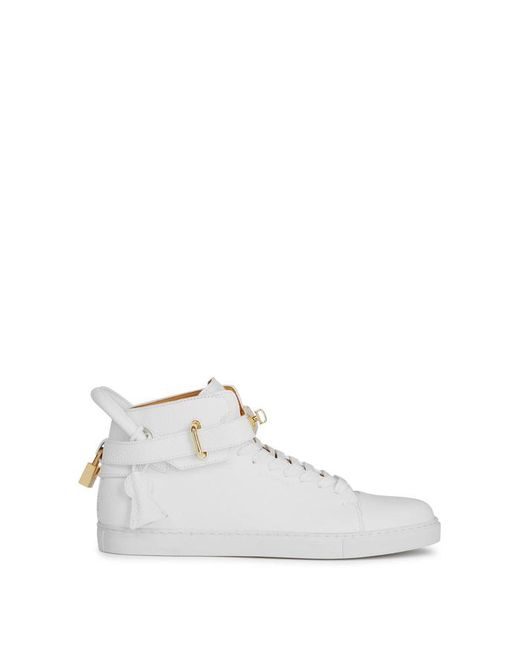 Buscemi - 100mm White Leather Hi-top Trainers for Men - Lyst