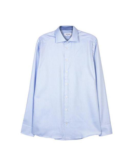 Eton of Sweden - Light Blue Slim Cotton Shirt - Size 15.5 for Men - Lyst