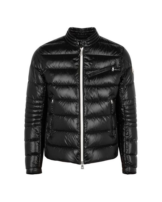 Moncler Berriat Black Quilted Shell Jacket for men