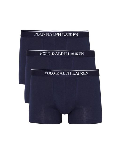 Polo Ralph Lauren - Blue Navy Stretch Cotton Boxer Briefs - Set Of Three - Size M for Men - Lyst