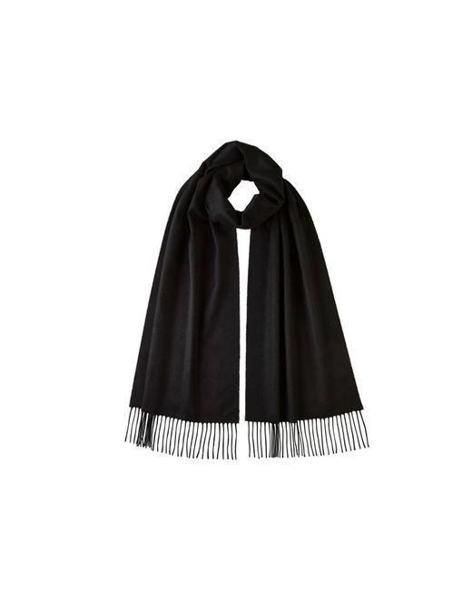 Johnstons Black Oversized Classic Cashmere Scarf for men