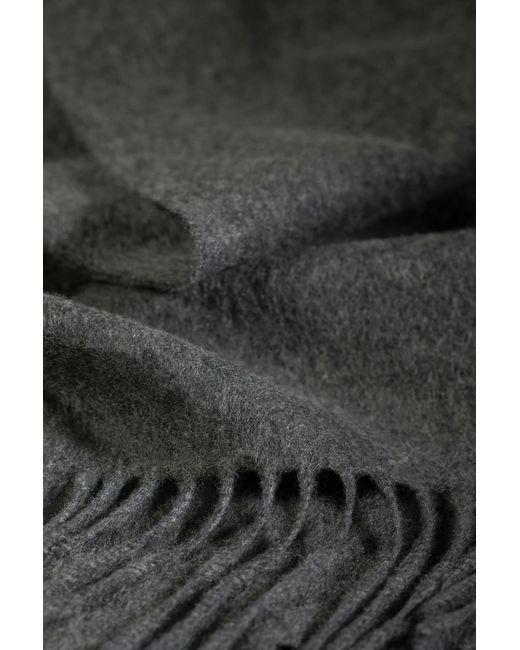 Johnstons Gray Granite Classic Cashmere Scarf for men
