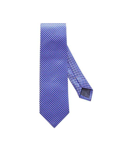 Eton of Sweden Purple Geometric Silk Tie for men