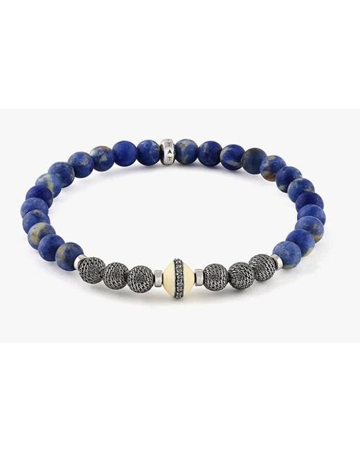Tateossian Blue Stonehenge Bracelet for men