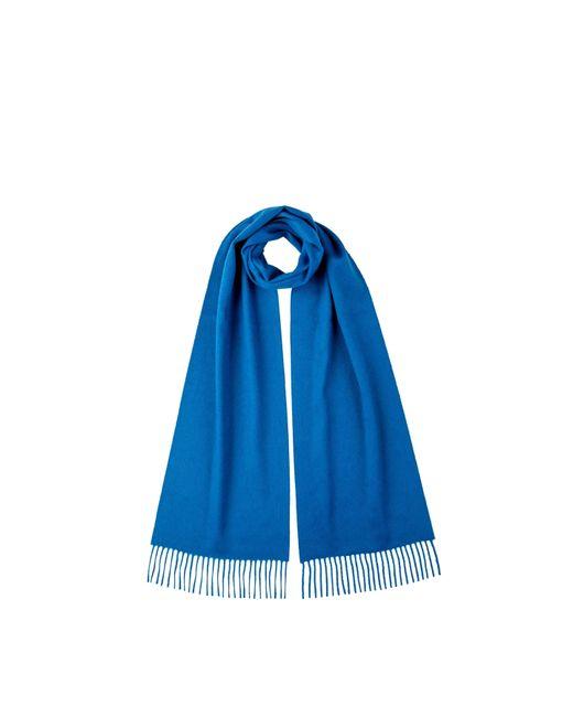 Johnstons Zaffre Blue Classic Cashmere Scarf for men