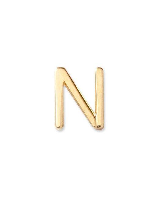 Maya Brenner Metallic Gold Letter Stud - N - Yellow Gold