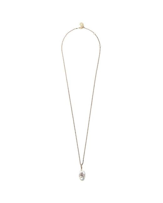 Alexander McQueen Metallic Faux Pearl-embellished Spider Necklace