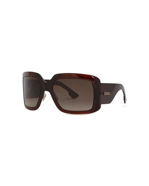 cca1cee6a6c0 Dior Solight2 Square-frame Sunglasses in Brown - Lyst