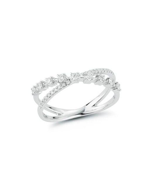 Dana Rebecca 14ct White Gold And Diamond Ava Bea Crossover Ring