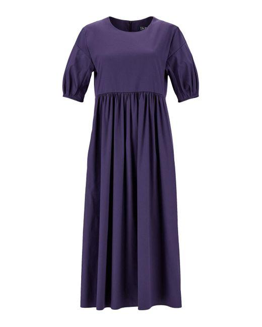 Max Mara Purple Cotton Poplin Dress
