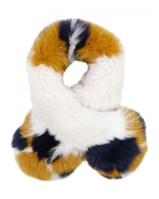 Yves Salomon   Multicolor Colour-block Fur Scarf   Lyst