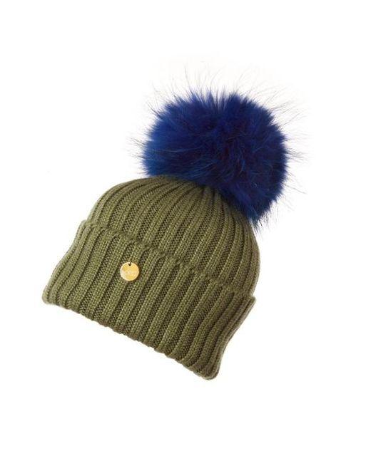 8ff05eb57fd Popski London Luxury Matching Hat in Blue - Lyst