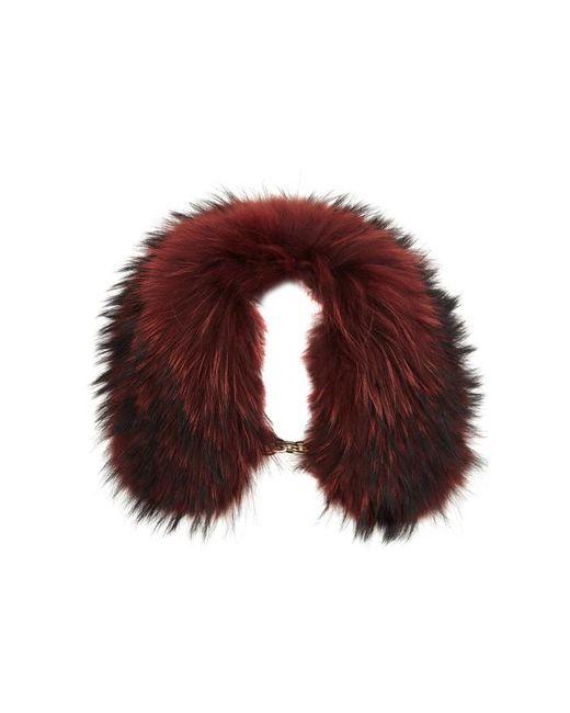Yves Salomon - Dark Red Fur Collar - Lyst