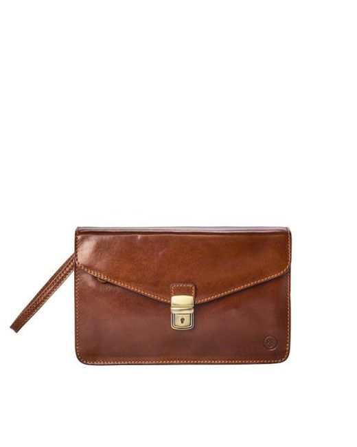Maxwell Scott Bags - Brown Santinos Men S Clutch Wallet - Lyst