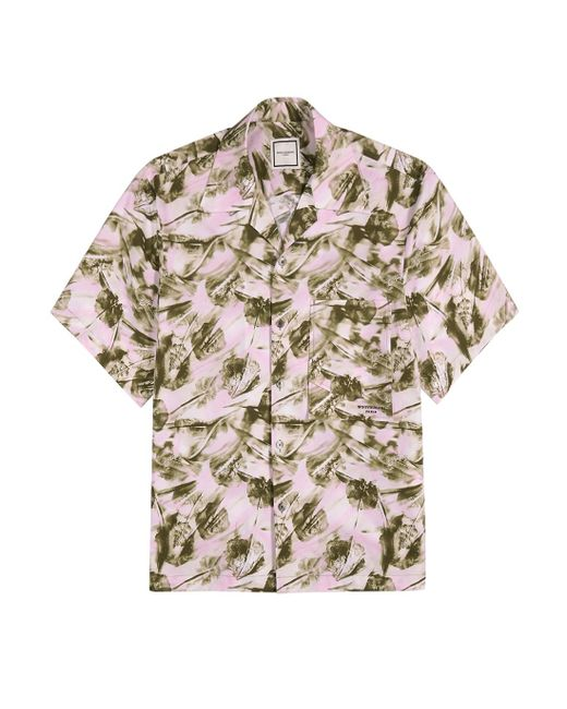 Wooyoungmi White Printed Stretch-poplin Shirt for men