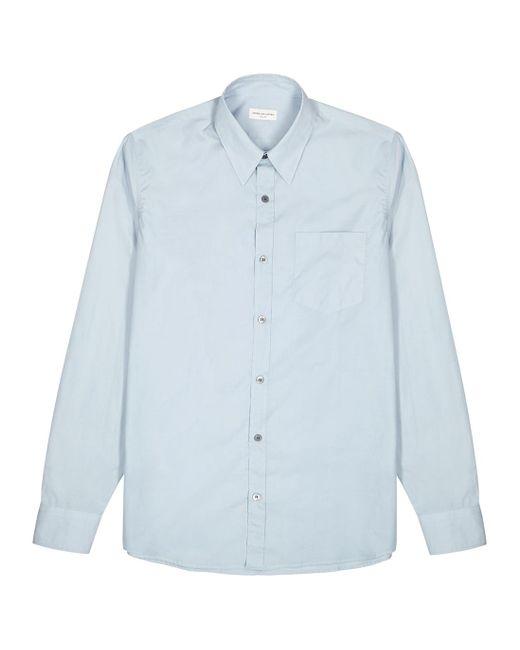 Dries Van Noten Corbino Blue Cotton Shirt for men