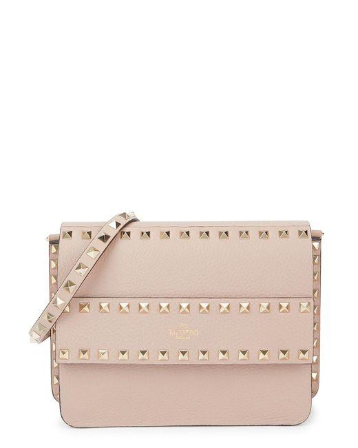 Valentino Pink Garavani Rockstud Blush Leather Clutch