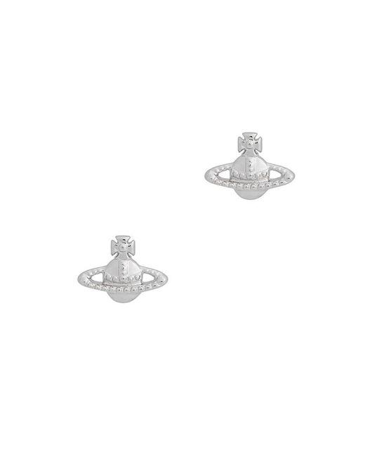 Vivienne Westwood Metallic Farah Silver-tone Stud Earrings
