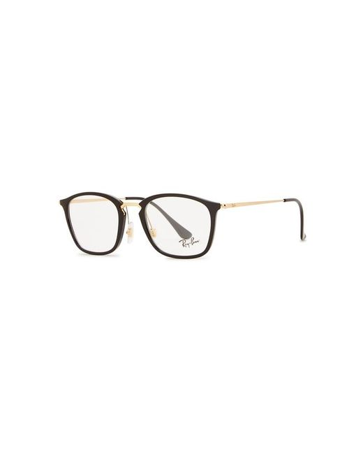 29a313a38f0 Ray-Ban Black Clubmaster-style Optical Glasses in Black for Men - Lyst