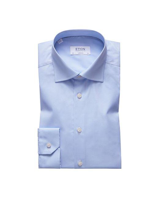 Eton of Sweden Blue Of Sweden Signature Twill Slim Fit Dress Shirt for men