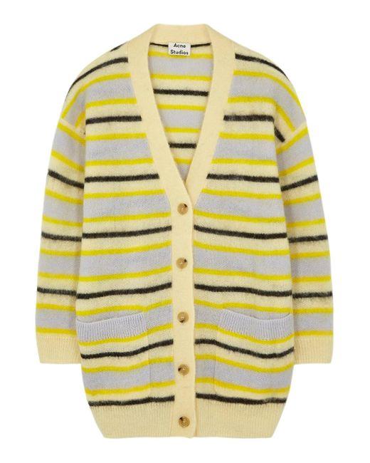 Acne Striped Cardigan yellow/multi