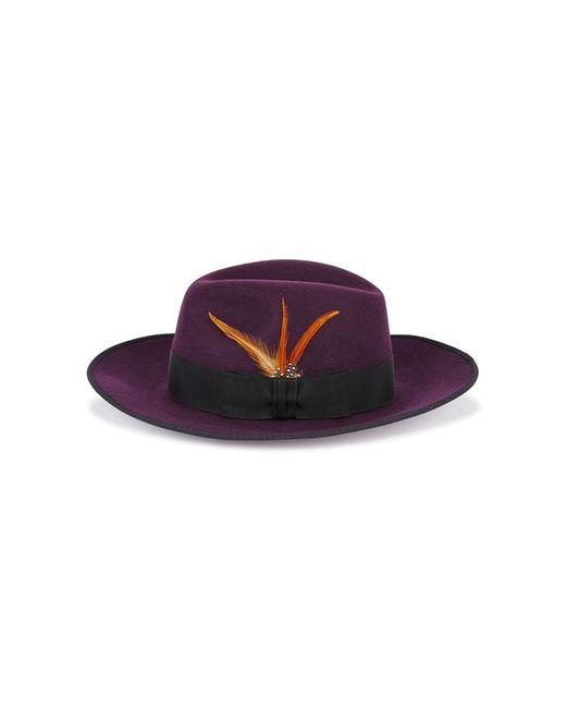 Christys' - Purple Madison Plum Wool Fedora - Lyst