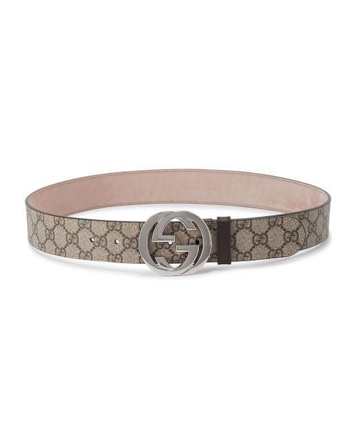 Gucci Multicolor GG Supreme Monogram Belt for men