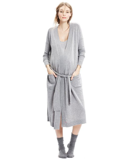 HATCH Gray Maternity The Cashmere Robe