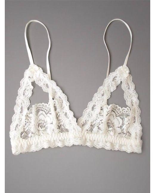 Hanky Panky Princess Lace Open Tip Bra In White Lyst