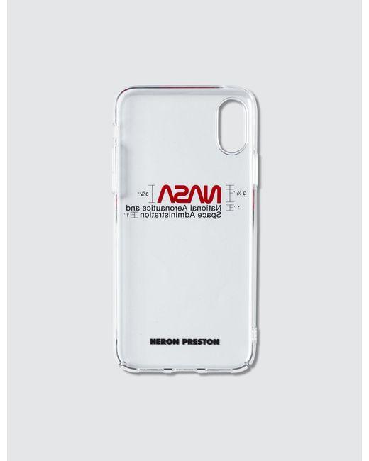 Heron Preston White Nasa Iphone Xs Case