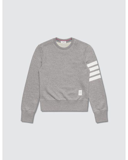 Thom Browne Gray 100% Cotton Children Sweatshirt for men