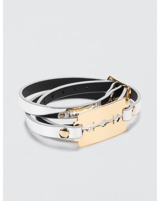 McQ Alexander McQueen   Metallic Razor Triple Wrap Bracelet   Lyst