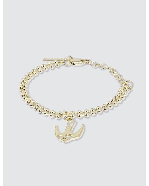 McQ Alexander McQueen | Metallic Swallow Bracelet | Lyst