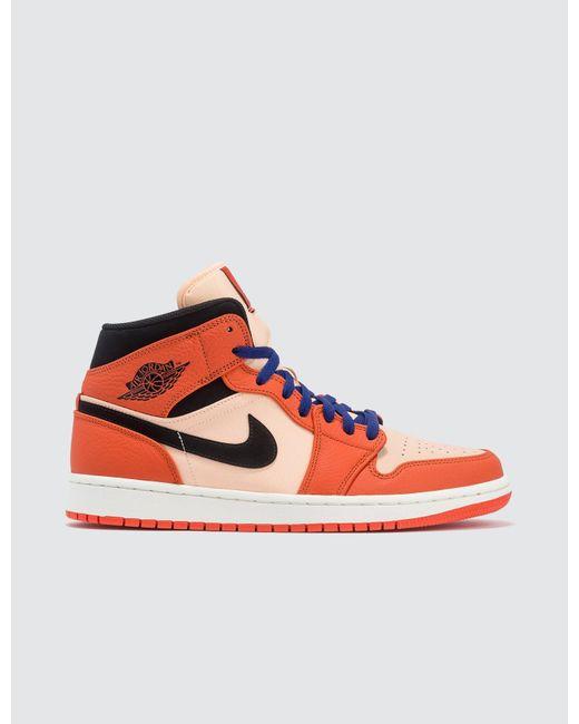 Nike Orange Air Jordan 1 Mid Se for men