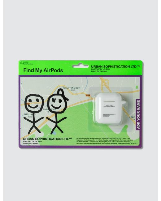 Urban Sophistication White Risk Of Losing Airpods Case