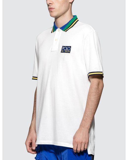 483467ebb8226 ... Polo Ralph Lauren - White Basic Mesh Polo for Men - Lyst ...